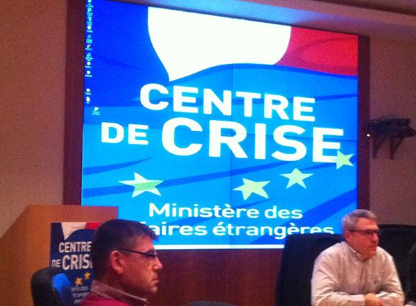 Visite du Centre de Crise du Quai d'Orsay