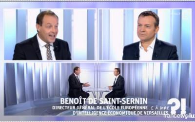 Benoît de Saint Sernin sur Fabius et renseignement (France 5)