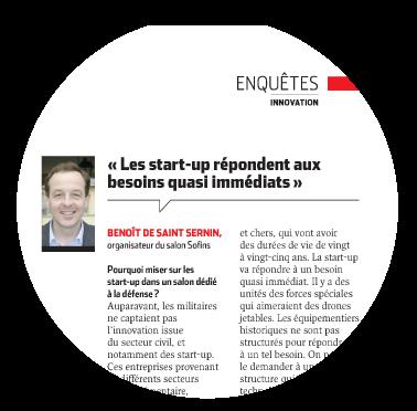 « Les start-up répondent aux besoins quasi immédiats » BenoÎt de saInt sernIn, organisateur du salon Sofins