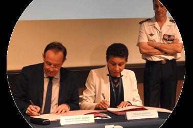 B. de Saint Sernin rencontre E. Crepon, directrice de l'ENSTA-Paristech