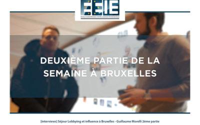 Séjour Lobbying et influence à Bruxelles | Guillaume Partie 2