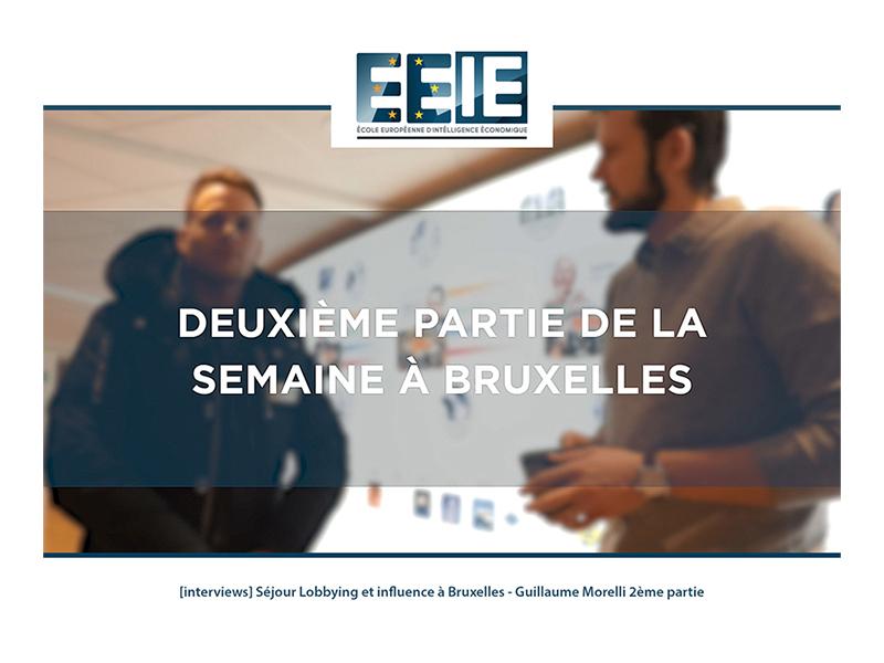 Séjour Lobbying et influence à Bruxelles   Guillaume Partie 2