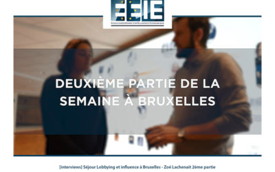 Séjour Lobbying et influence à Bruxelles | Zoé Partie 2