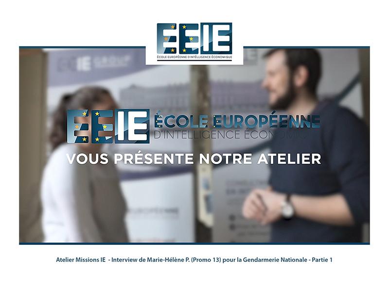 Atelier Missions IE | Marie-Hélène pour la Gendarmerie (Partie 1)