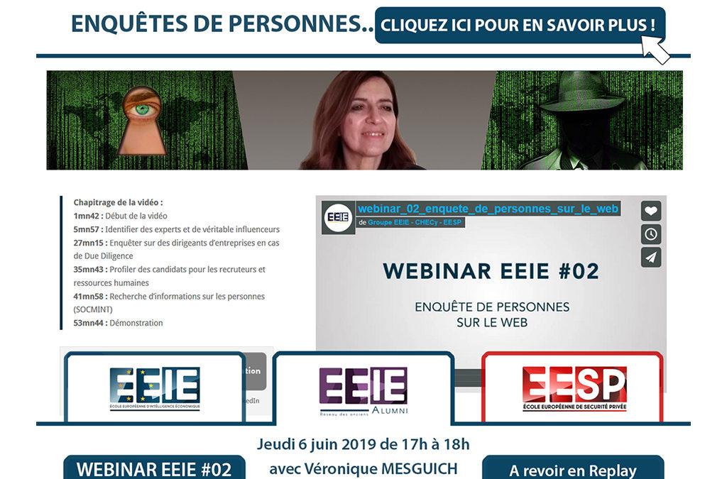 Webinar EEIE #02 : Enquête de personnes sur le web