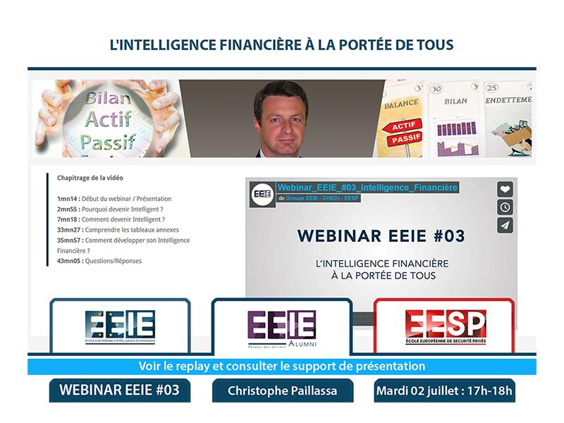 Webinar EEIE #03 : L'Intelligence Financière à la portée de tous