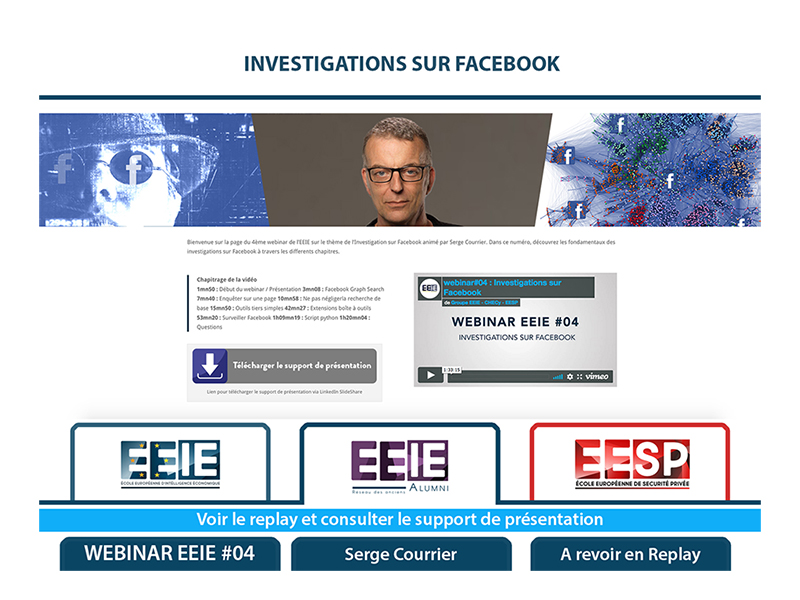 Webinar EEIE #04 : Investigations sur Facebook