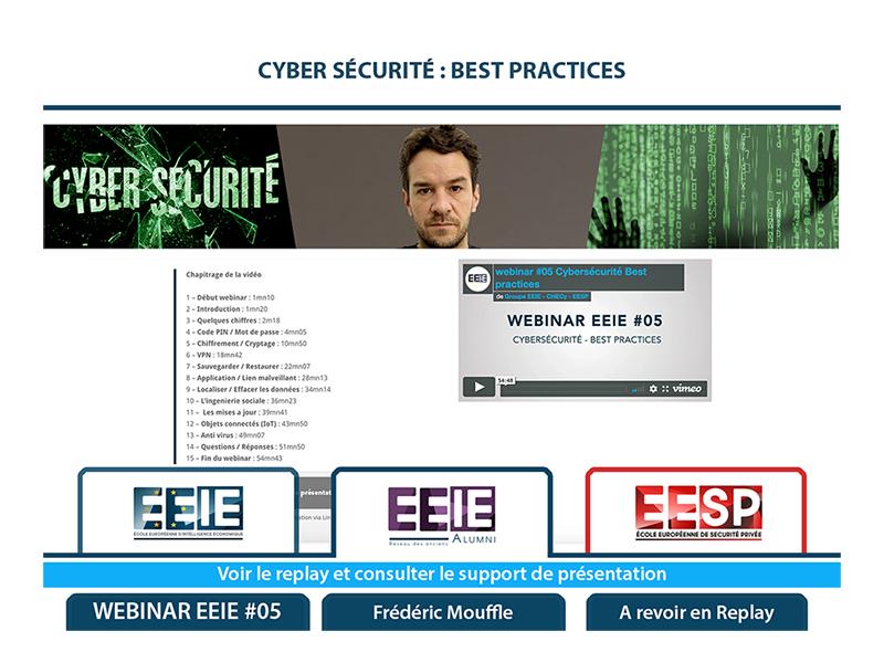 Webinar EEIE #05 : Cybersécurité – Best practices