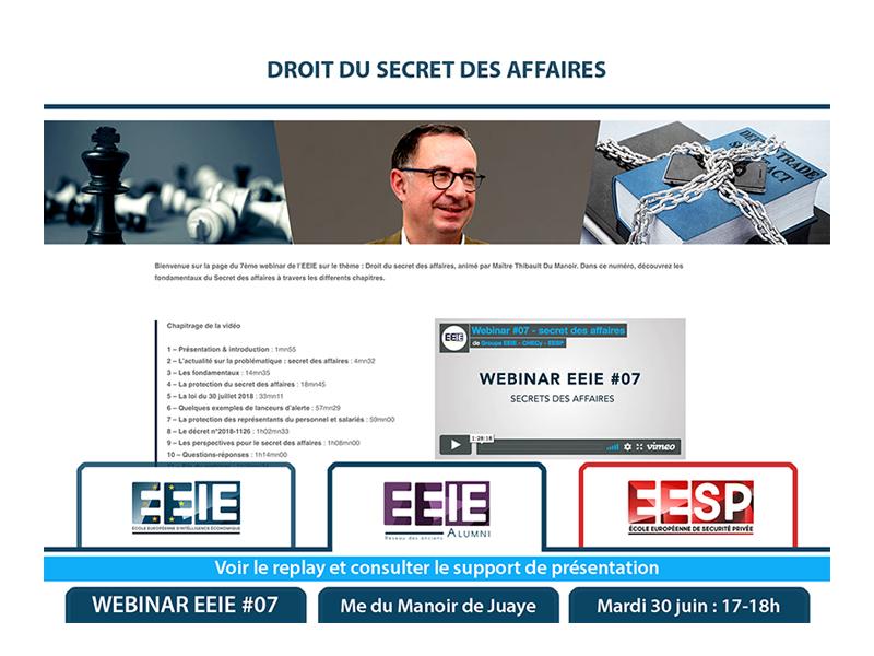 Webinar EEIE #07 : Droit du Secret des Affaires