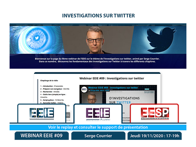 Webinar EEIE #09 : Investigations sur twitter