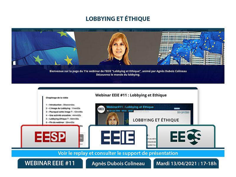 Webinar EEIE #11 : Lobbying et éthique