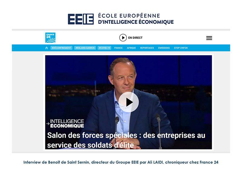 Interview de Benoît de Saint Sernin sur France24