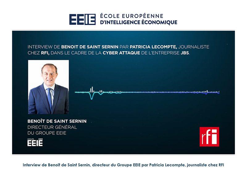 Podcast : Benoît de Saint Sernin chez RFI