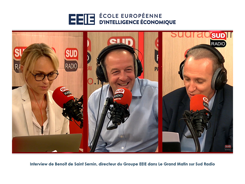 Interview de Benoît de Saint Sernin sur Sud Radio